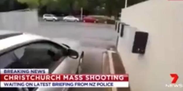 İşte Yeni Zelanda'daki camiye saldırı anı