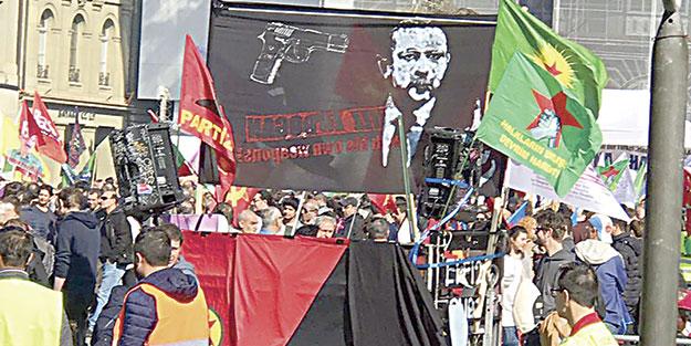 İsviçre PKK'nın skandal pankartına göz yumdu