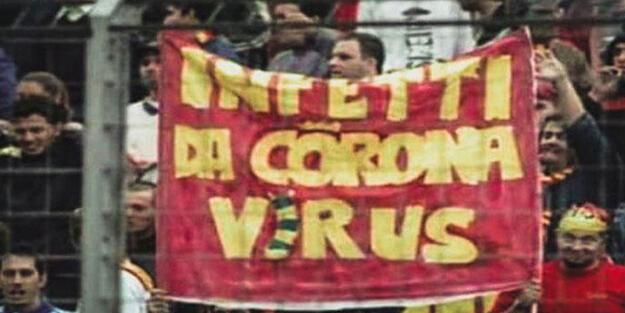 İtalya'da 19 yıl önce açılan koronavirüs pankartı!