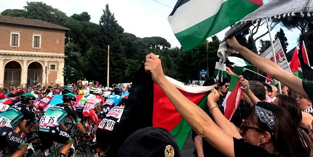 İtalya'da İsrail protestosu