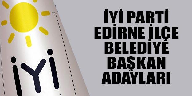İYİ Parti Edirne ilçe belediye başkan adayları 2019