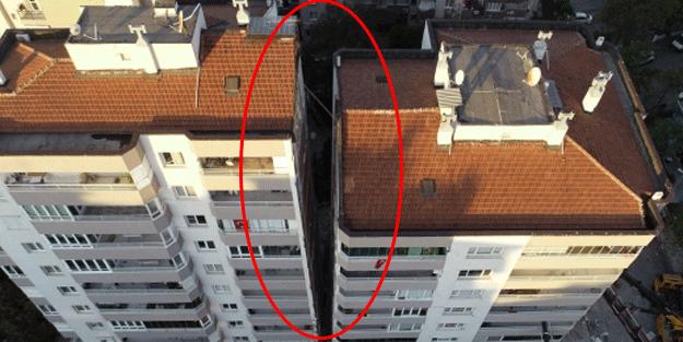 İzmir depreminde ilk 3 katı çöktü! Yan yatan bina böyle desteklendi