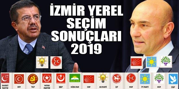 İzmir yerel seçim sonuçları 2019 | Cumhur ittifakı Millet ittifakı oy oranları YSK İzmir ilçe seçim sonuçları