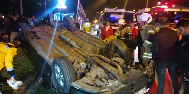 İzmir'de bir araç takla attı: 2 yaralı