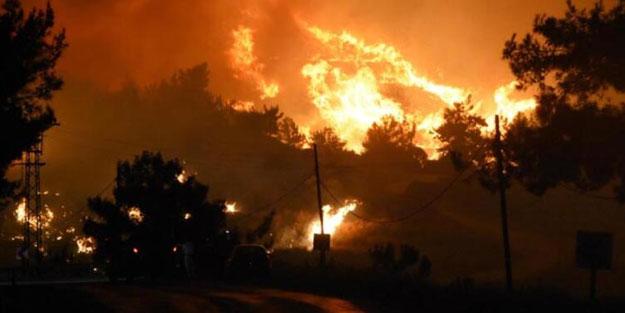 İzmir'de çıkan orman yangını devam ediyor