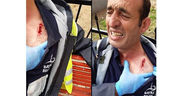 İzmir'de dezenfekte işçisine saldırdılar!
