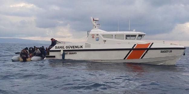 İzmir'de Yunanistan'ın Türk sularına ittiği 48 göçmen kurtarıldı