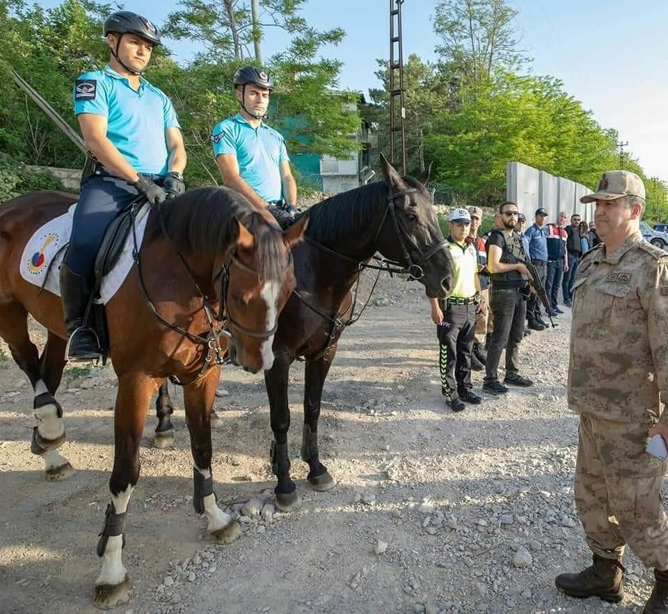 Jandarmanın atlı timleri görev başında