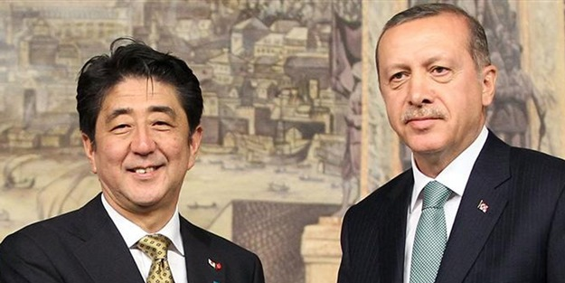 Japonya Başbakanı Abe'den Erdoğan'a mesaj
