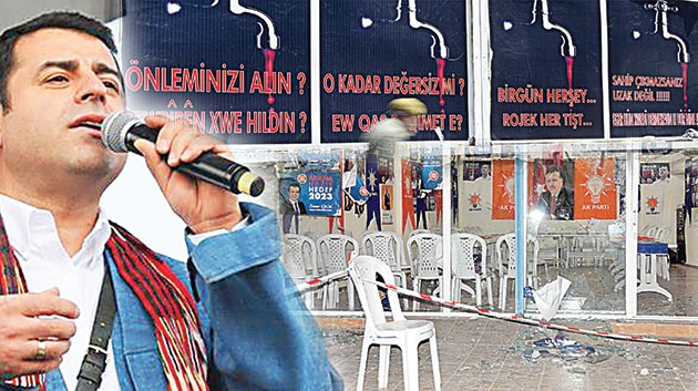 Kâbe düsmanlığı HDP'yi vurdu