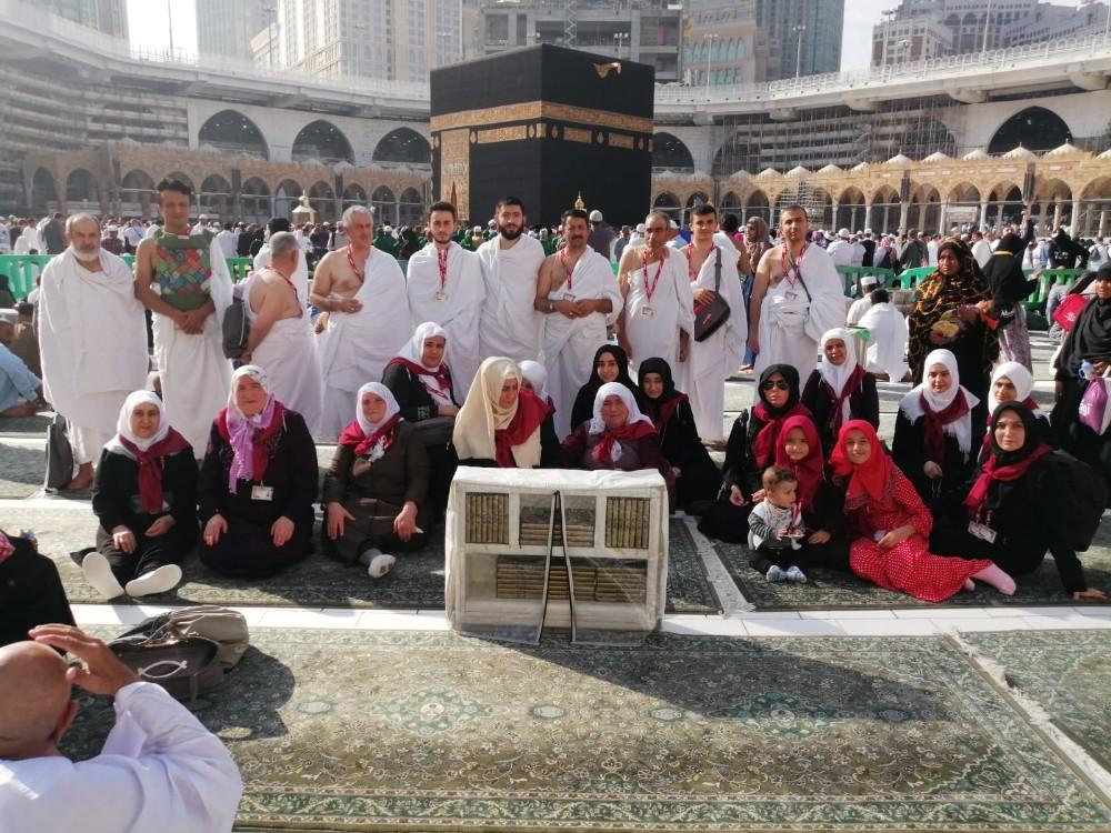 Kabe'de depremzedeler için dua
