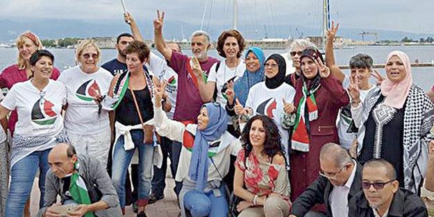 Kadınlar Gazze için yola çıktı