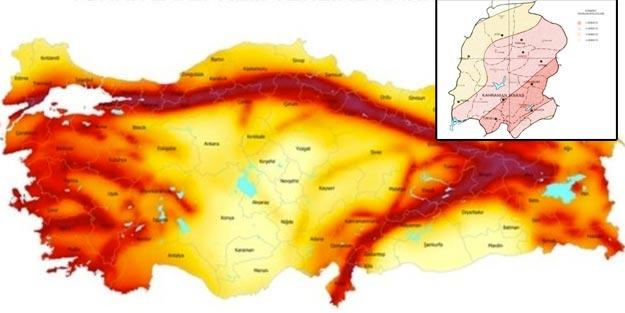 Kahramanmaraş'ta fay hattı nereden geçiyor? Kahramanmaraş fay hattı haritası