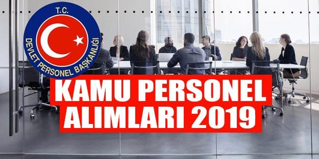 Kamu personel alımı ilanları 2019 Devlet Personel Başkanlığı kamu personel alımı