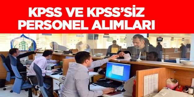 Kamuya KPSS ve KPSS'siz 12 bin 120 memur işçi alımı yapacak