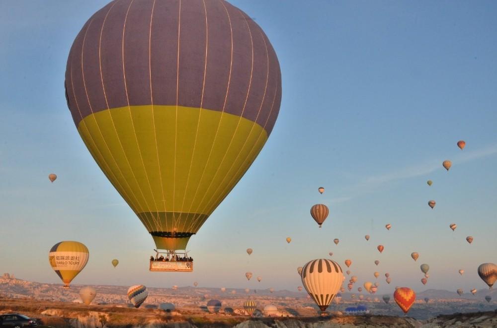 Kapadokya Bölgesini Mart ayında 188 bin 487 turist ziyaret etti
