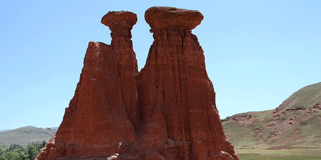Kapadokya'ya Türkiye'de rakip! Kırmızı periler diyarı