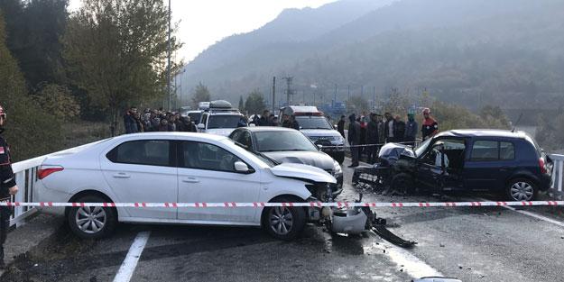 Karabük'te zincirleme trafik kazası: Yaralılar var