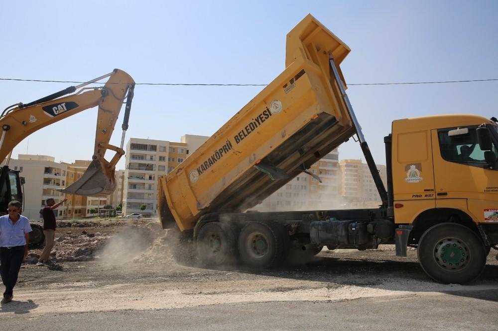 Karaköprü yeni yol açma çalışmaları devem ediyor