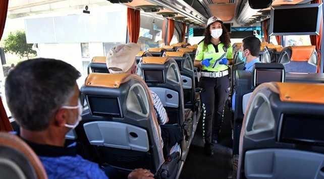 Karantinadaki yolcuyu taşıyan otobüs 10 gün seferden men edildi