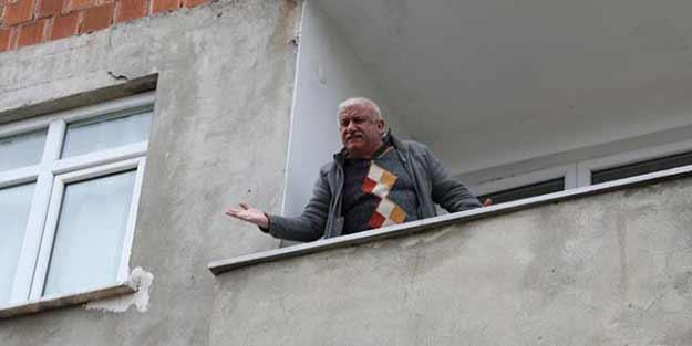 Karantinadan kaçıp memleketi Rize'ye gelmişti! Balkona çıkarak kendisini savundu