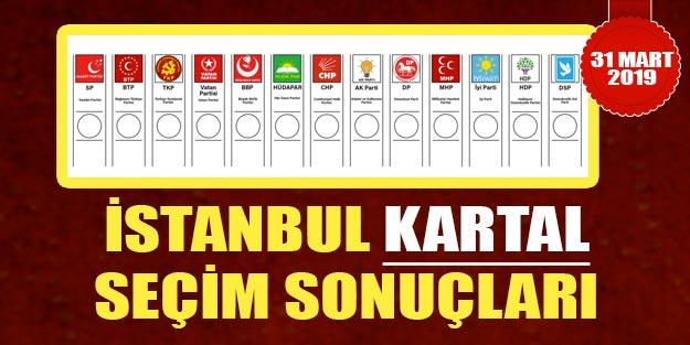 Kartal seçim sonuçları 2019 | 31 Mart İstanbul Kartal yerel seçim sonuçları oy oranları