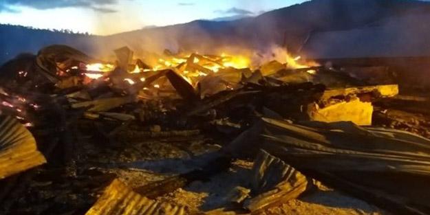 Kastamonu'da 2 ev ve ahır yandı