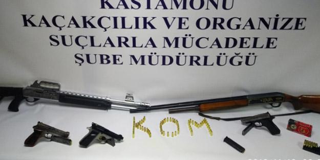 Kastamonu'da silah kaçakçılığı operasyonu!