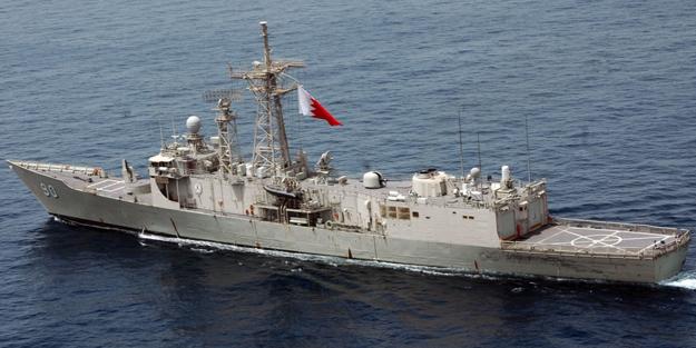 Katar kara sularında gerginlik! Savaş gemisine müdahale edildi