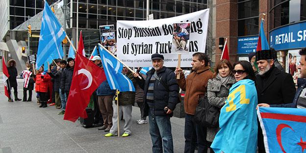 Katil Esed ve destekçisi Putin protesto edildi