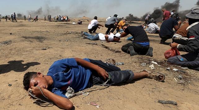 Katil İsrail, Filistinlileri 'tahrip uçlu mermi'yle vurdu