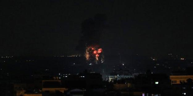 Katil İsrail'den Gazze'ye hava saldırısı
