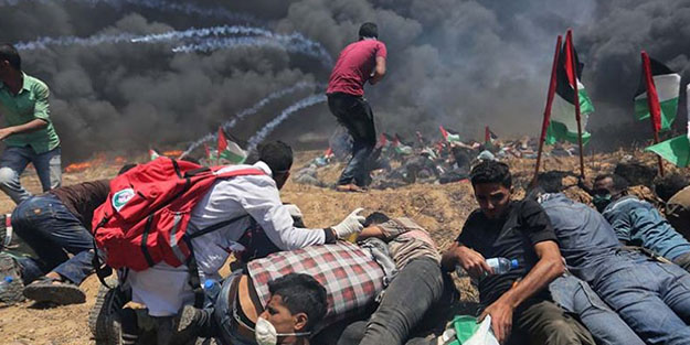 Katil İsrail'in katliamı dünya'da böyle yankı buldu!