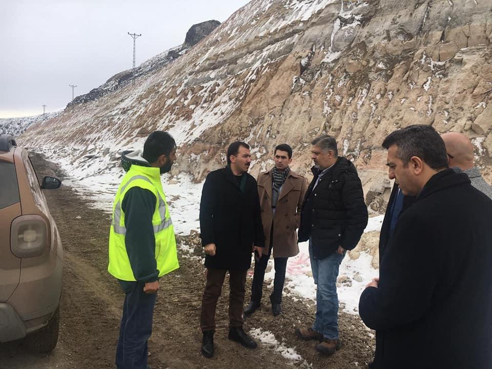 Kaymakam Koşal, Karakurt Barajı'nda incelemelerde bulundu