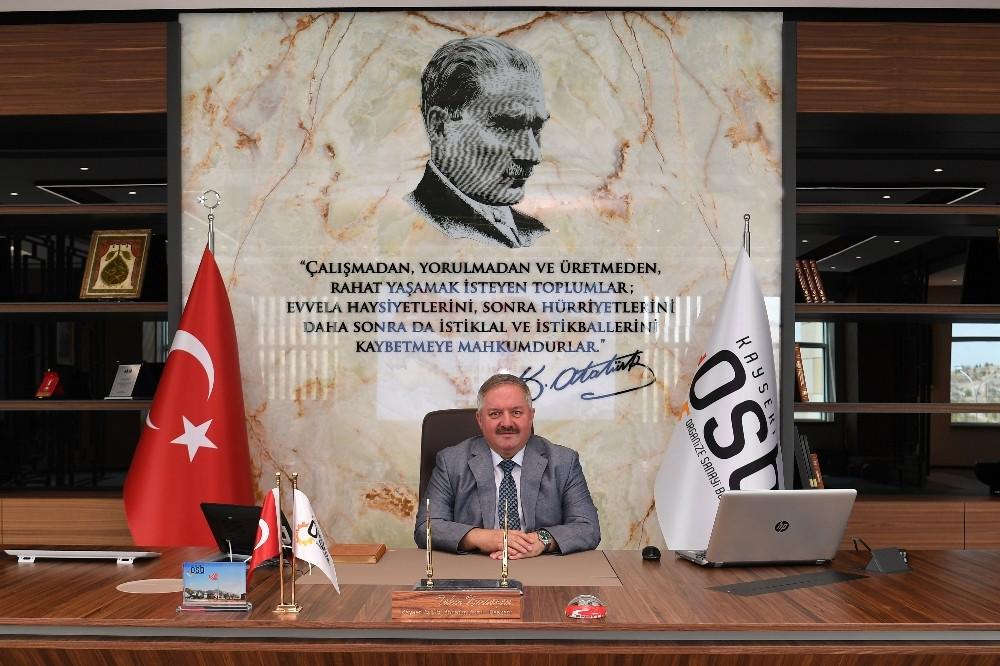 Kayseri OSB Yönetim Kurulu Başkanı Tahir Nursaçan,