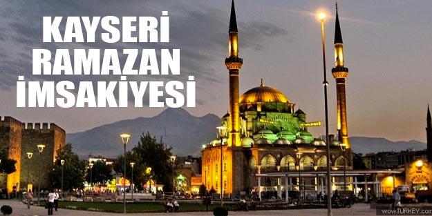 Kayseri ramazan imsakiye 2019 diyanet
