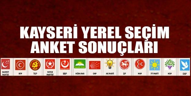 Kayseri yerel seçim anket sonuçları 2019 yerel seçim sonuçları Kayseri