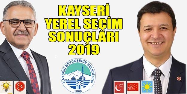 Kayseri yerel seçim sonuçları 2019 | Kayseri 31 Mart yerel seçim sonuçları Cumhur ittifakı Millet ittifakı oy oranı
