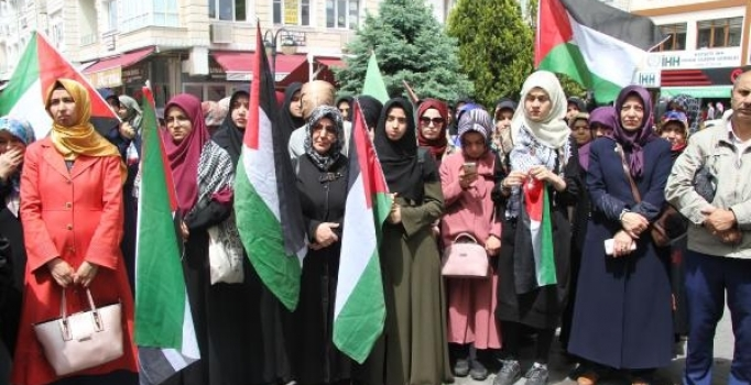 Kayseri'de Kudüs Platformu'ndan İsrail tepkisi