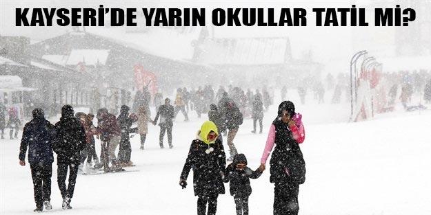 Kayseri'de 9 Ocak Çarşamba okullar tatil mi