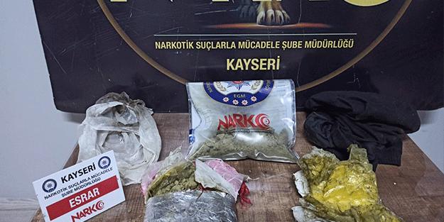 Kayseri'de uyuşturucu operasyonu! Bakın nereden çıktı