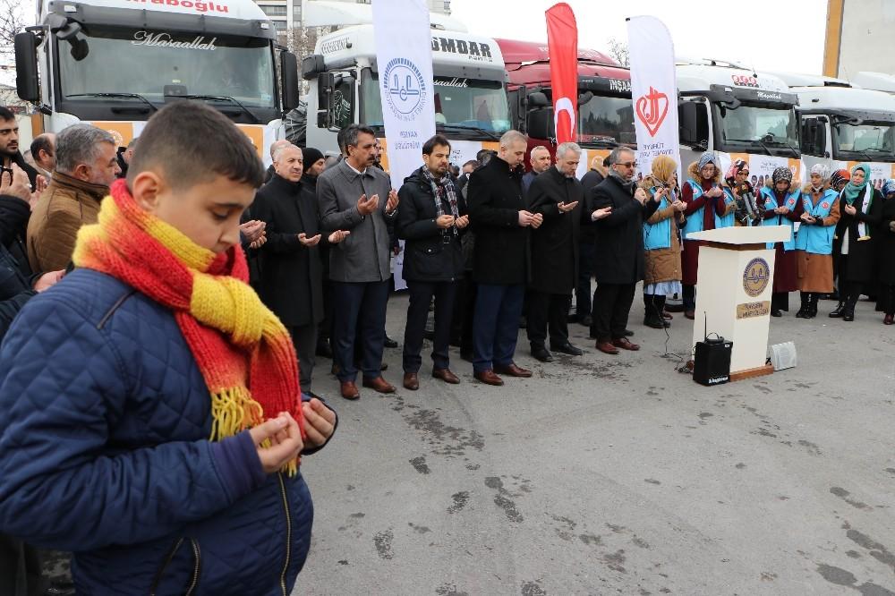 Kayseri'den İdlib'e 1 milyon 939 TL'lik yardım