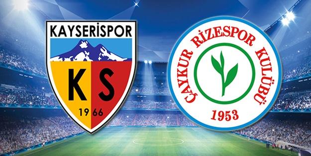 Kayserispor Çaykur Rizespor maçı ne zaman, saat kaçta, hangi kanalda?