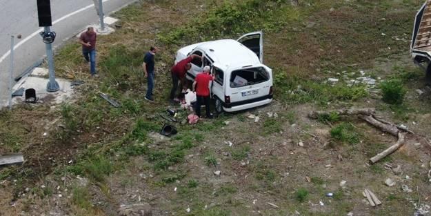 Kaza anı drone kamerasına anbean yansıdı!