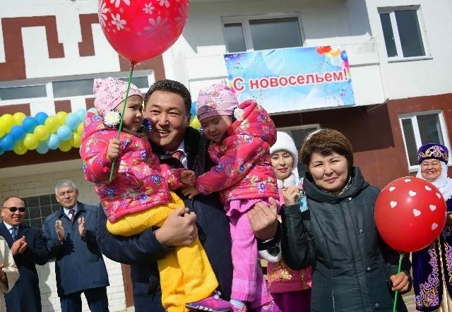 Kazakistan'da çok çocuklu ailelere ev desteği