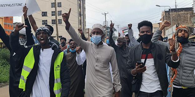 Kenyalılar'dan İsrail'e tepki