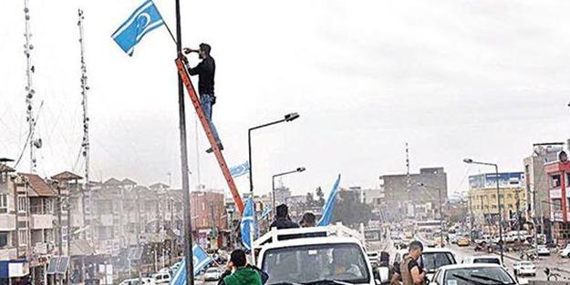Kerkük'te bayrak krizi! 'Bize dokunana bizde dokunacağız'
