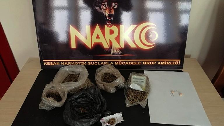 Keşan'da uyuşturucu satıcısı tutuklandı