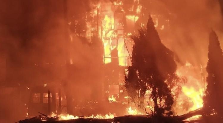 Kiev'de korkutan yangın