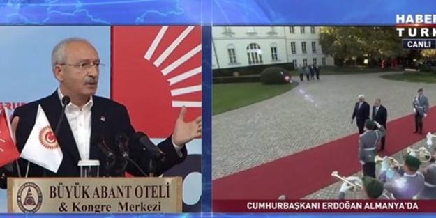 Kılıçdaroğlu Erdoğan'ı eleştirirken dikkat çeken görüntü!